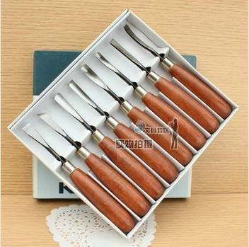 Free Shipping Woodpecker pmb 308 wooden knife Medium sculpture knife wood carving knife 8 set sculpture