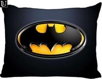 カスタムロゴバットマン長方形枕ケースジッパー古典枕ケース diy 枕ケースあなたの写真と 20 × 30 インチ両側|枕カバー|ホーム&ガーデン -