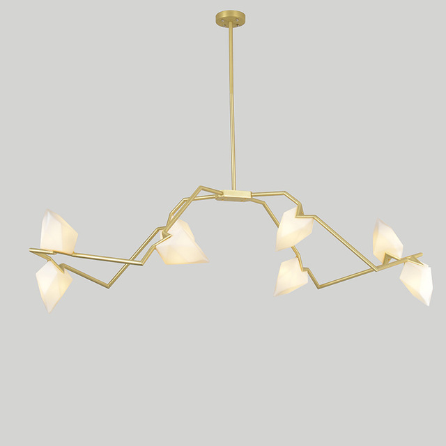 New Personality Designer Chandelier Ceiling Bedroom Living Room Foyer Post Modern  Decoration G9 Lighting Peach Hanging