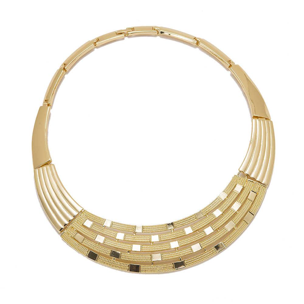 MuKun 2018 Dubai Schmuck-Set Für Frauen hochzeit schmuck fashion nigerianischen perlen halskette schmuck-set modeschmuck zubehör