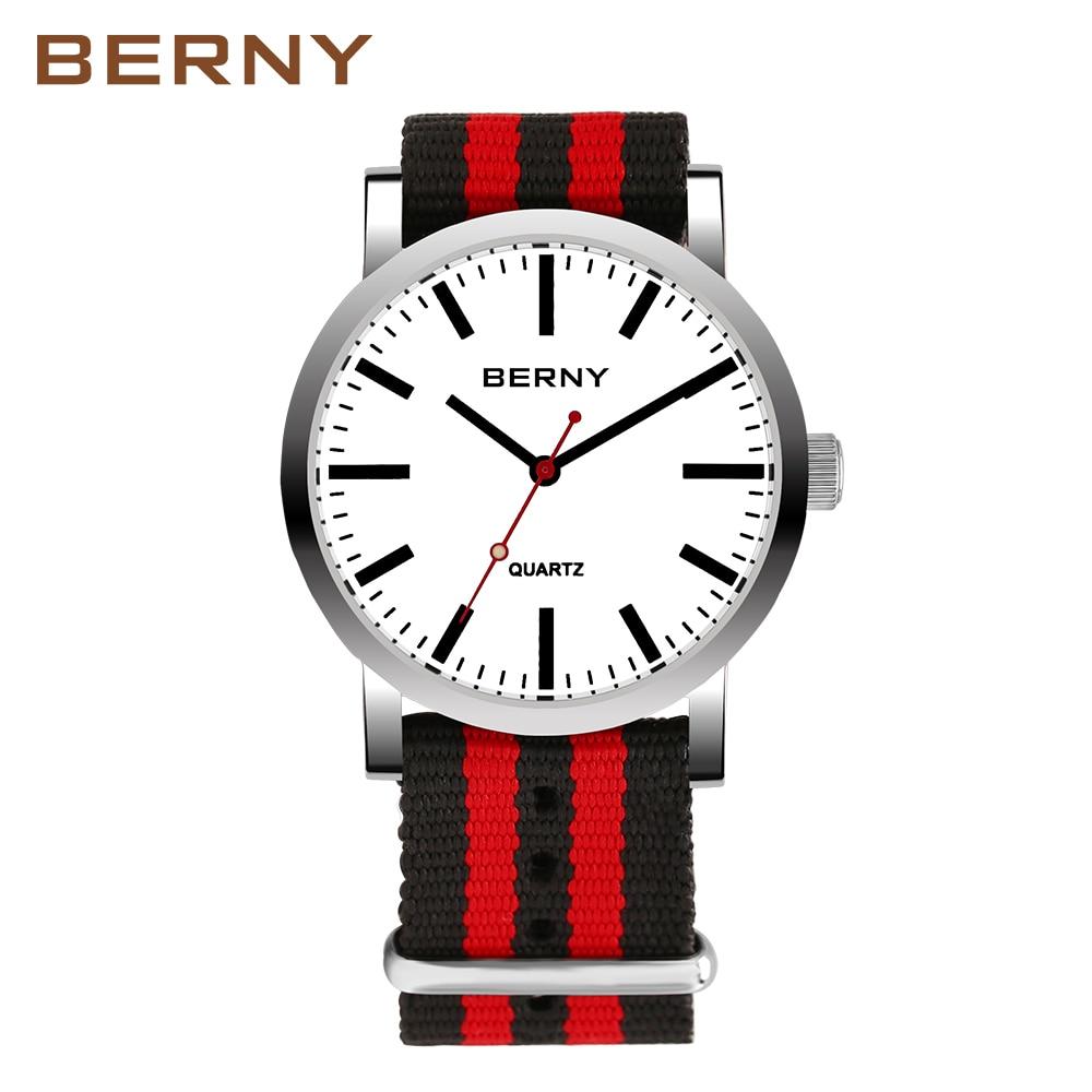 Berny Männer Uhr Quarz Herren Uhren Mode Top Luxus Marke Relogio Saat Montre Horloge Masculino Erkek Hombre welt tasse uhr-in Quarz-Uhren aus Uhren bei  Gruppe 1