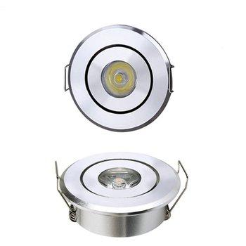 Luz LED pequeña de 1W para minivitrina, luz para gabinete, joyería, agujero para armario, azulejo de pie de 45 a 55 colores, luz de techo, nueva