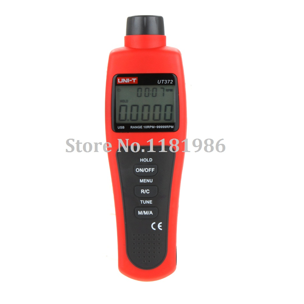 UNI-T UT372 Digital LCD Display USB Interface RPM Range 10RPM-99999RPM Non-Contact Tachometer