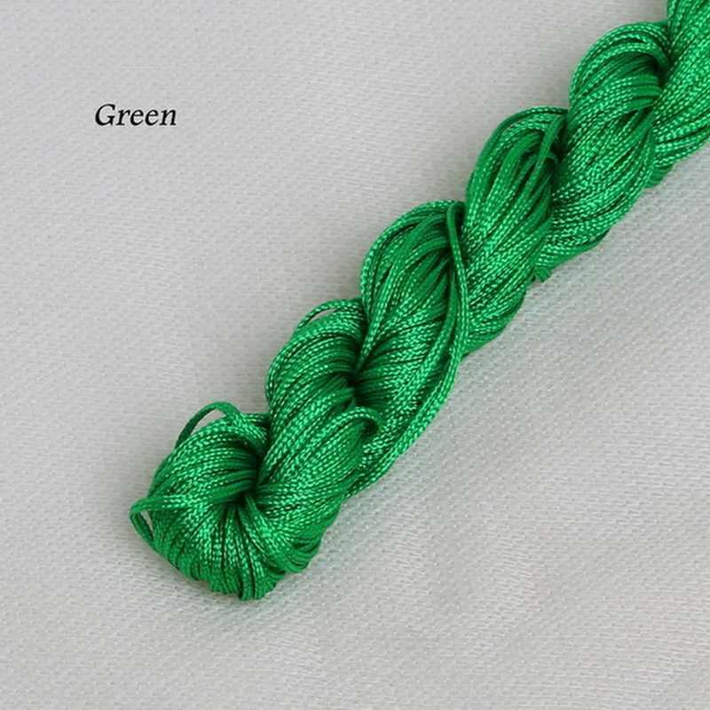 1 ミリメートル × 24 メートルのナイロンコード糸中国結マクラメ Rattail ジュエリー作るホームテキスタイルアクセサリー DIY
