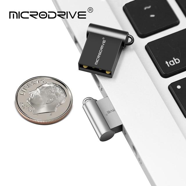 Super Mini Usb Flash Drive Metal 128GB 64GB flash drive USB 2.0 pendrive 32GB 16GB 8GB waterproof pen drive celular flash disk