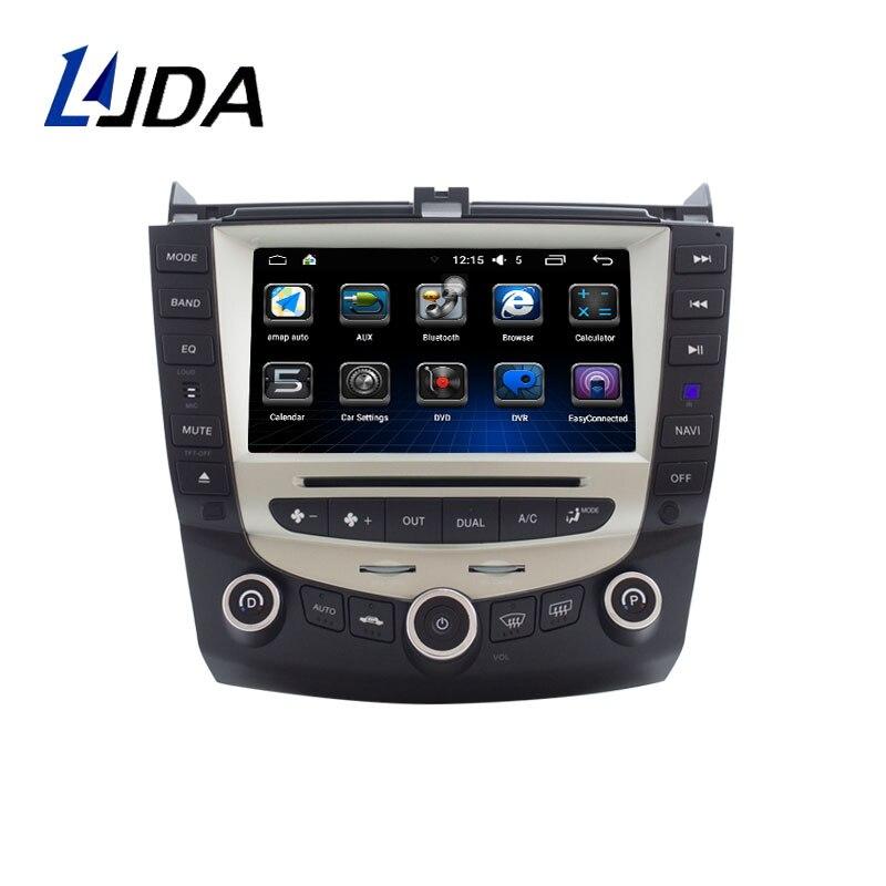 LJDA 7 pouce 2 DIN Android 6.0 Lecteur DVD de Voiture Pour Honda Accord 2003 2004 2005 2006 2007 Radio Audio WIFI Canbus GPS Navigation BT