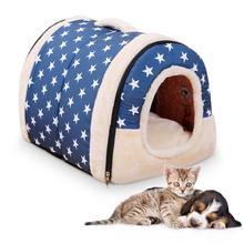 Pet Dog Cat Bed Pet Mat Kennel Bed Sofa Warming Dog House Soft Dog Nest Winter Kennel For Puppy Cat Small Medium Dogs Pet(China)