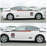 XYIVYG Car Styling Whole Body Car Stickers KK Material Car Vinyl Decal Sticker For Honda Civic Accord HKS Style