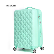 20″ High quality Diamond lines Trolley suitcase /travell case luggage/Pull Rod trunk rolling spinner wheels/ ABS+PC boarding bag
