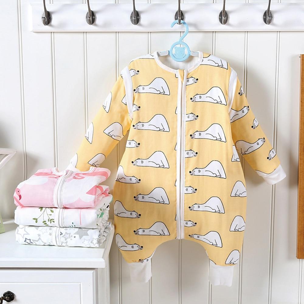 Baby Sleeping Bag Bear Sleepsacks Detachable Sleeve Soft Cotton Spring Children Play Sleep Bag Blankets Baby Carriage Swaddle