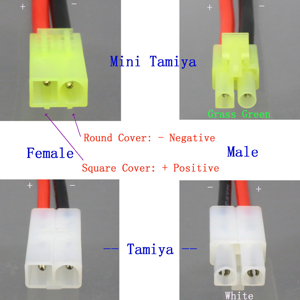 Tamiya Male to XT60 Female No wire adapter Connector for NIMH Lipo Battery