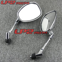 For SUZUKI Inazuma 400 GSX400 750 1200 Inazuma rearview Motorcycle Rearview Mirrors Mirror Chrome/Black