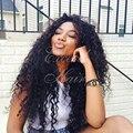 150 плотность бразильский человеческих волос кружева фронт парики glueless полный парики шнурка глубоко вьющиеся лучших человеческих волос парики для черного женщины