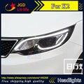 Frete grátis! estilo do carro LEVOU ESCONDEU faróis LED Head Lamp para KIA K2 Rio 2015 2016 Lente Bi-Xenon baixo feixe