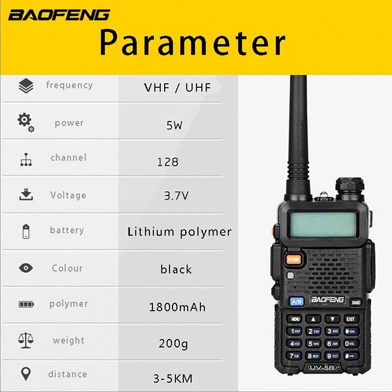 Baofeng UV5R Radio bidirectionnelle double bande UV5R Radio talkie-walkie CB Radio avec programmation USB et antenne RH-771 - 4