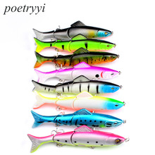 POETRYYI  2018 good fishing lure minnow quality professional bait 12.7cm 17.63g swim bait  jointed bait equipped hook  30 good bait