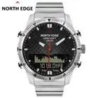 Reloj Digital deportivo de buceo para hombre, relojes militares, de lujo, de acero, resistente al agua, brújula de 100 m, borde norte