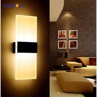 Luz da parede moderna led lâmpadas de parede interior led arandela lâmpada luzes para o quarto sala estar escada espelho luz lampara pared