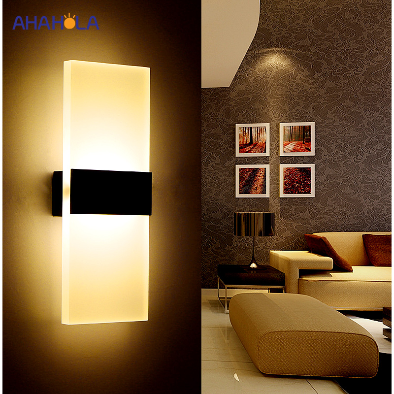 Pared moderna luz de pared interior Led lámparas Led lámpara de pared lámpara de luces para dormitorio habitación escalera espejo de luz Lampara de Pared