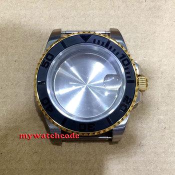 40mm sapphire glass ceramic bezel golden Watch Case fit 2824 2836 MOVEMENT C143