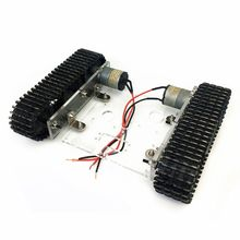 Acrylic Tank Robot Chassis DC9-12V Tracked Vehicle DIY Arduino Unassembled Kit Accessory tank chassis smart car tracked vehicle chassis tank robot chassis metal motor belt encoder