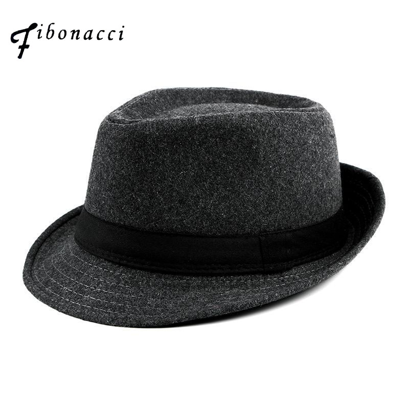 42382b5816e NewFibonacci Fashion men Women's hats Flanging Brim Caps fedoras Jazz hat  Vintage Popular Blend wool caps