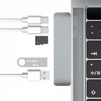 OMESHIN USB Hubs Type C USB C Hub Adapter Dual USB 3 0 Port Thunderbolt 3