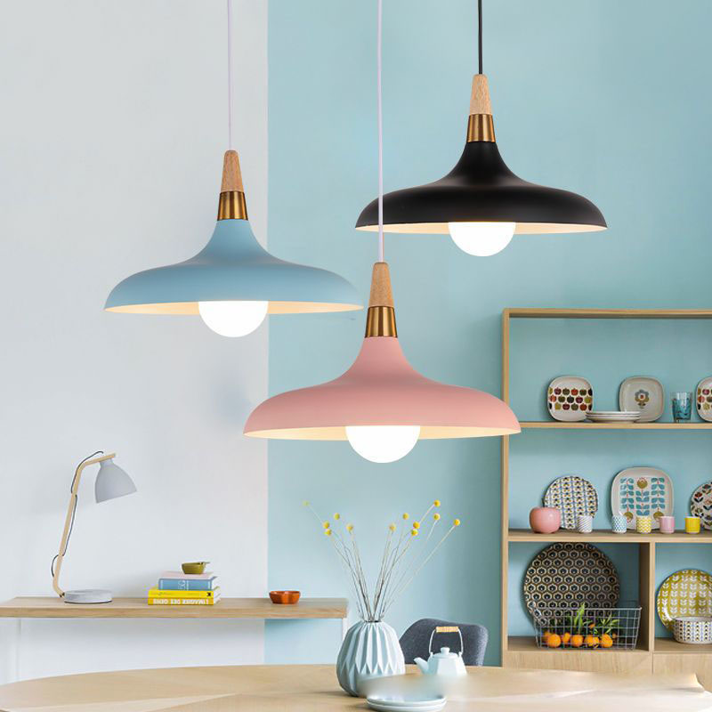 Lampara Colgante Pendant Lights Lustres Abajur Pendant Lamp Luminaire Hanglamp Wood Aluminum Lamp Shade For Home Lighting Dining (10)