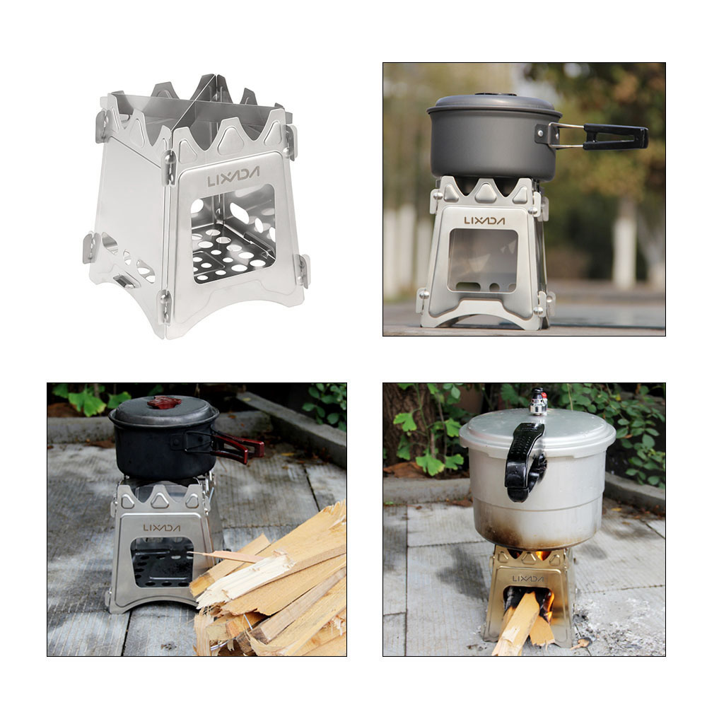 ULTRALIGHT TITANIUM WOOD BURNER CAMPING STOVE 1
