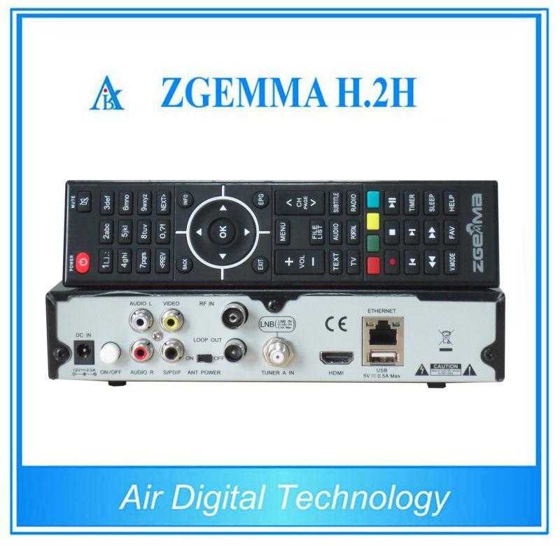 20pcs Dual Core Combo Tuner Zgemma H.2H  DVB-S2+DVB-T2/C Hybrid USB WIFI Linux E2 HBTV Receiver 3pcs linux zgemma star h2 iptv satellite receiver combo tuner with dvb s2 and dvb t2
