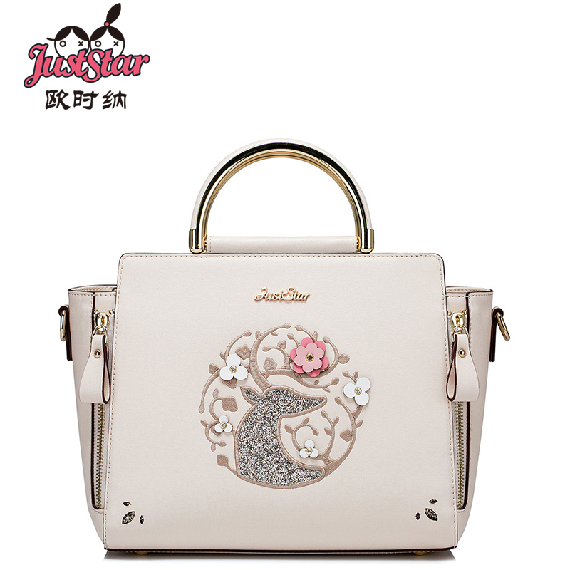 JUST STAR fashion women bag PU leather preppy style handbag shoulder bags small lady messenger bag just star fashion women bag pu leather lady small handbag shoulder bags printed crossbody messenger bag