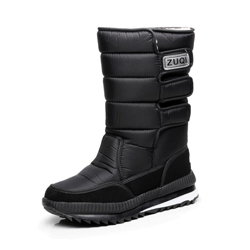 Plus size 36 47 Men Boots platform snow boots for men thick plush waterproof slip resistant