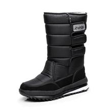 Plus size 36 – 47 Men Boots platform snow boots for men thick plush waterproof slip-resistant winter shoes for -40 degrees