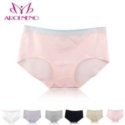 YIELODER хлопковые трусики бесшовные краткое для женщин эластичные карамельный цвет талии нижнее белье большой размер