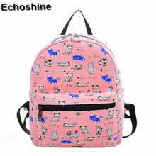 Women Canvas Shoulder Bag Printing Bag School Backpack Rucksack School Bags Cute Rucksack Backpack children school book bags