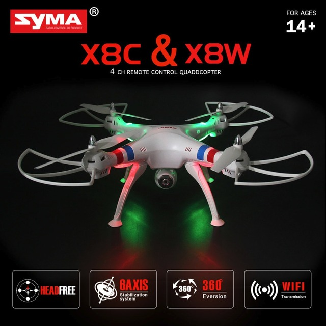 SYMA X8W WIFI FPV RC Quadcopter Professional 2.4G 6-Axis Syma X8C RC Drone With 2MP Camera HD RC Helicopter with VS Syma X8HG