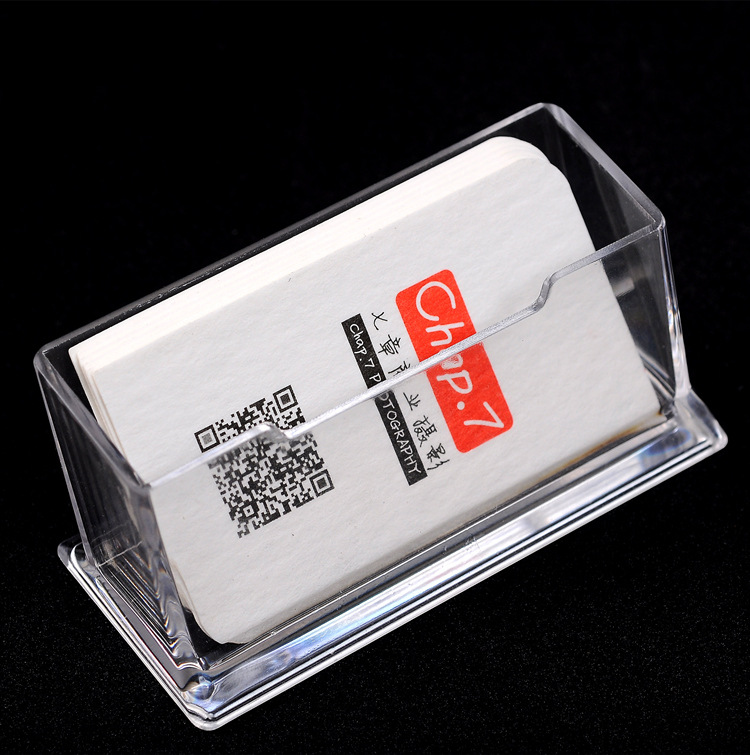 Hot Sale Business Card Holders Practical Precision Fine Clear Plastic Desktop Display Stands Note Holders Box Wholesale
