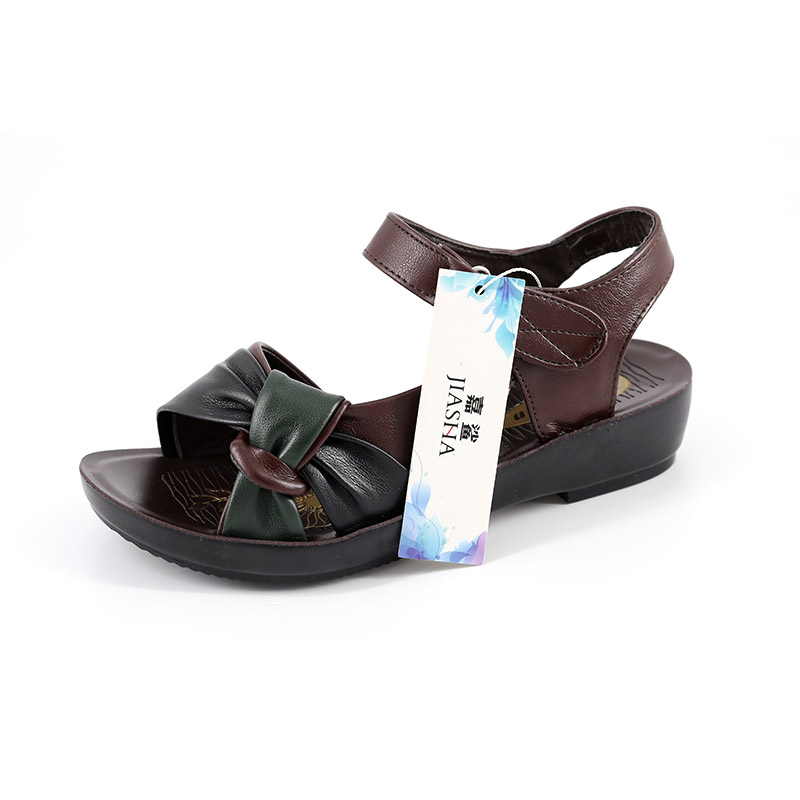 78447d731d2f Soft skin sandals comfortable women shoes 2018 new summer sandals women PU  flat with mixed colors-in Low Heels from Shoes on Aliexpress.com