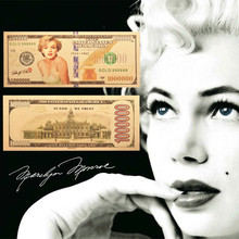 One-Million-Foil Banknote Monroe Business-Gifts 24k-Gold-Plated Home-Decor High-Quality