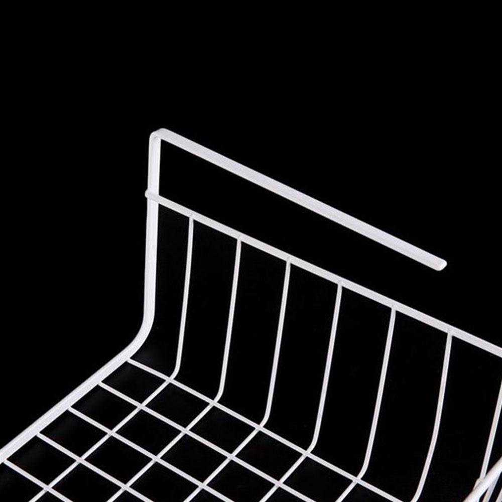 Under Shelf Basket Storage Space Saving Steel Bronze: Iron Domestic Storage Box Space Saver Hanging Basket For