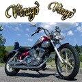 2x motocicleta tanque de combustível de gás de ouro 3d emblema emblema adesivo decalque para yamaha virago