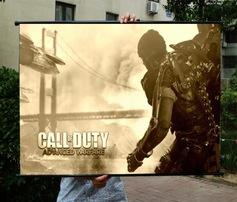 Call Of Duty 11 HD игры фильм настенные свитки Плакат Бар Кафе Домашний Декор Баннеры Висячие Книги по искусству Водонепроницаемый ткань украсить...