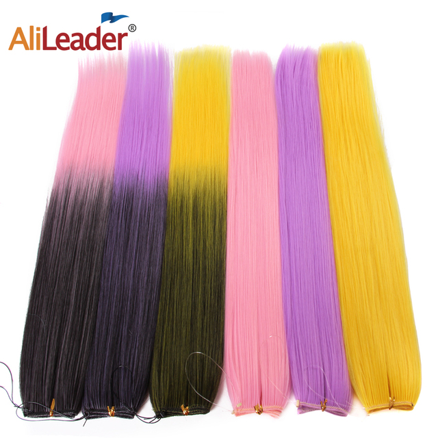 Alileader Fish Line Hair Extensions Secret Invisible 22 Inches Long