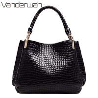 VANDERWAH Bolsas Feminina Women Handbags Hot Sale Brand Shoulder Bags High Quility PU Leather Crocodile Pattern