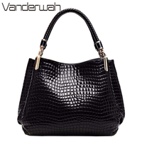 VANDERWAH Bolsas Feminina Women Handbags Hot Sale Brand Shoulder Bags High Quility PU Leather Crocodile Pattern