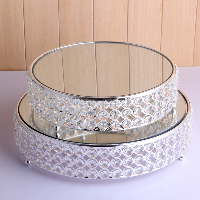 Fashion crystal 3130 silver plated cake stand metal mirror glass dessert plate fruit plate dessert swing & Fashion crystal 3130 silver plated cake stand metal mirror glass ...