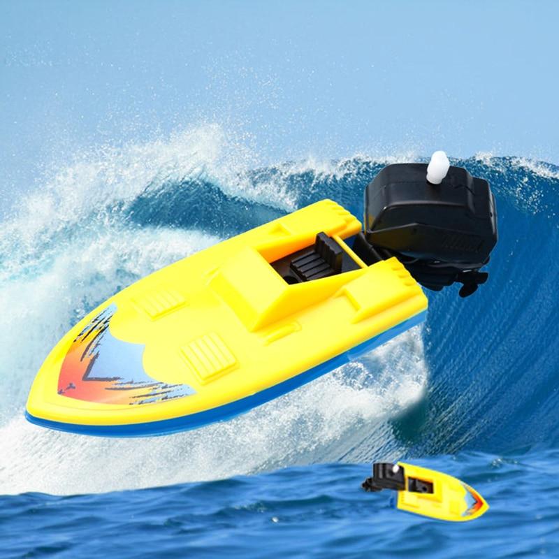 Имитировать надувные Заводной Моторные лодки корабль детские плавательные игрушки для купания для Ванная комната Пляж Бассейн zk25 распрост...