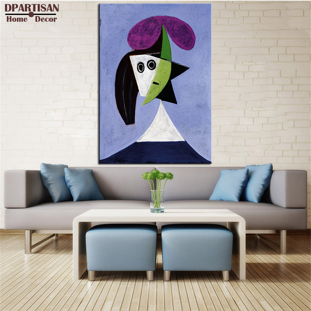 DPARTISAN Cubism Art Estate Signed Numbered Donna woman P12 Giclee wall Art Abstract Canvas Prints No frame wall painting