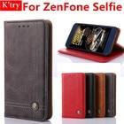 Flip Protective Vintage Leather Style Kistand Wallet Case For ASUS ZenFone Selfie ZD551KL