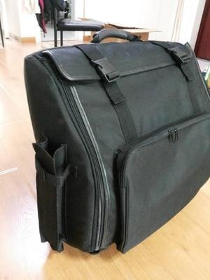 Gepolsterter Bass Piano Akkordeon Gig Bag Akkordeon Koffer Rucksack,Schwarz